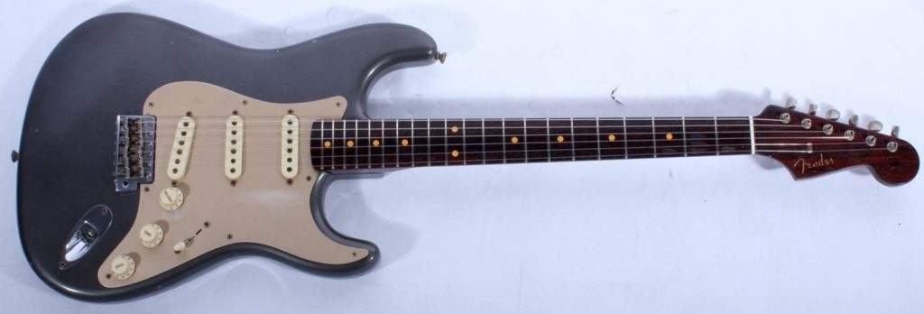 Fender-Custom-Shop-Ltd-Journeyman-Relic-50-s-Stratocaster-w-Solid-Rosewood-Neck-(Pewter)-370052
