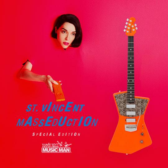 Music Man St. Vincent LTD, Neon Orange & Leopard Print!