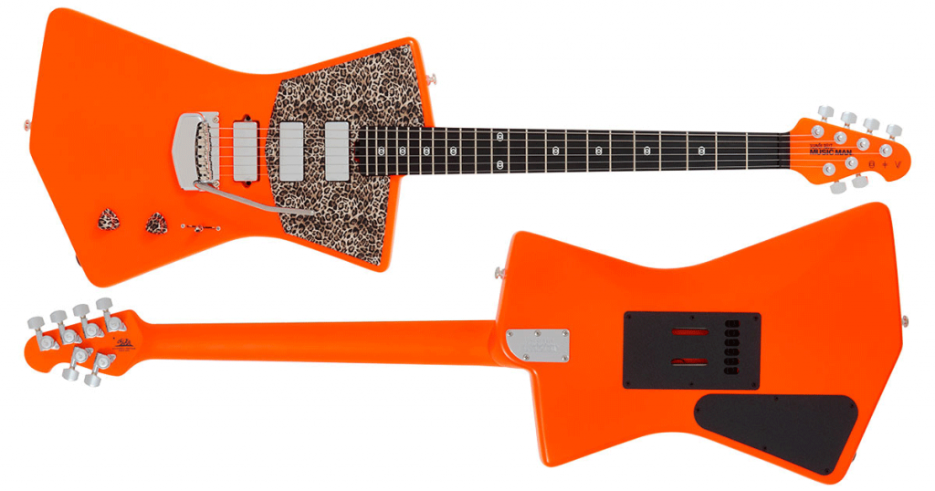 Music Man St. Vincent LTD, Neon Orange & Leopard Print!