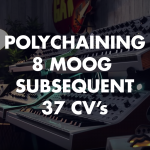 Polychaining 8 Moog Subsequent 37 CV's!