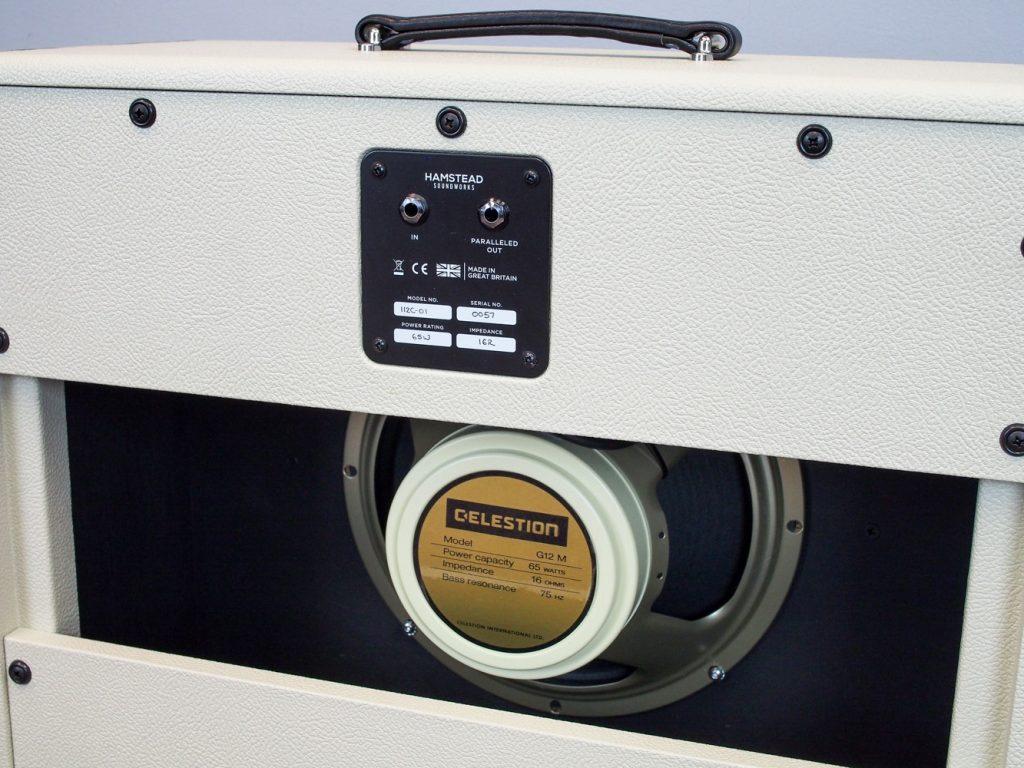 """1x12"""" Speaker Cabinet, Cream - Black"""