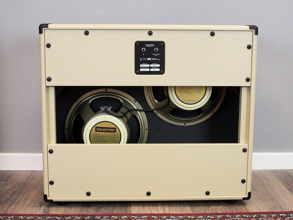 "2x12"" 'D' Offset Speaker Cabinet, Cream - Black"